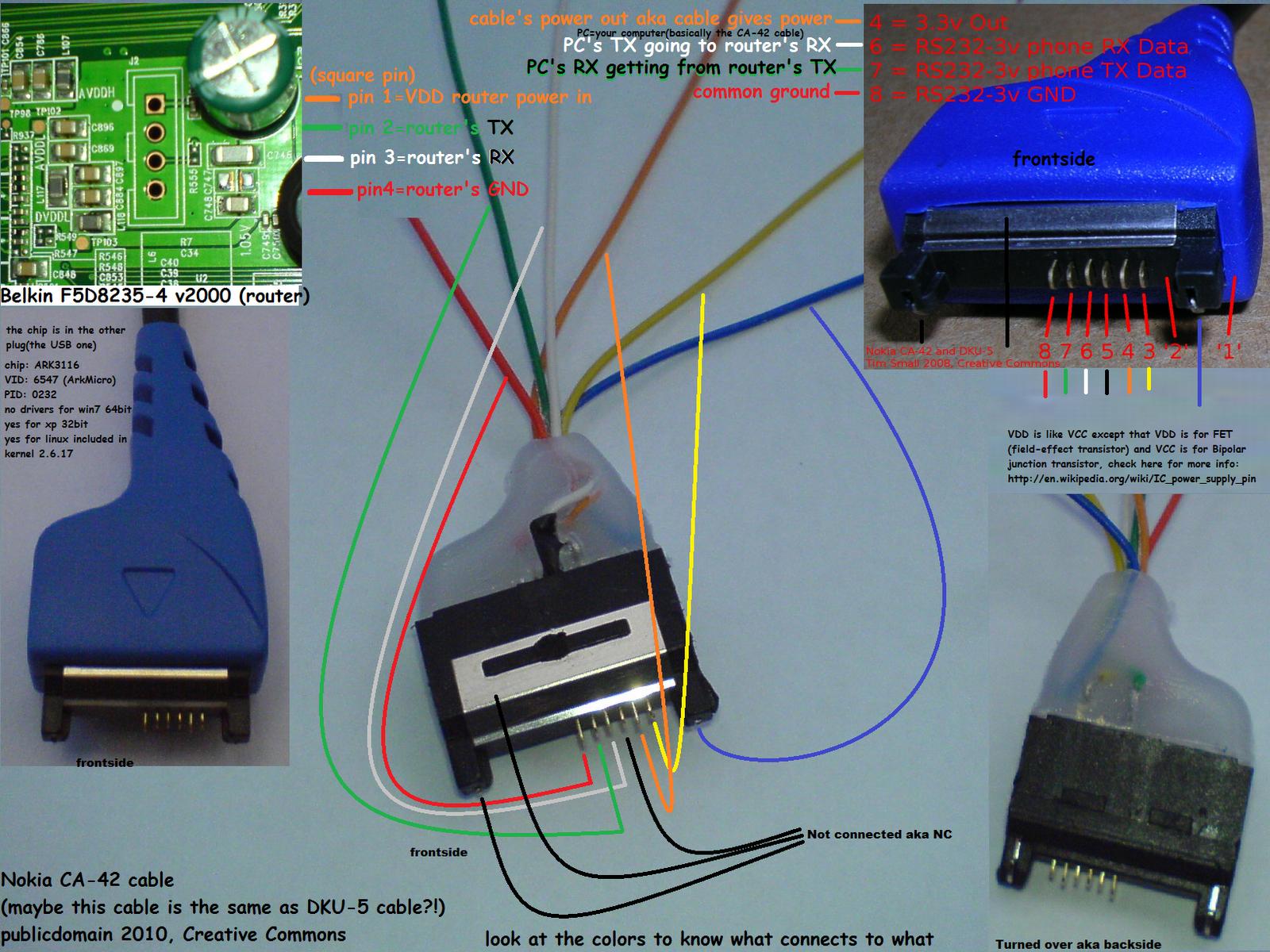 Схема кабеля dca 100